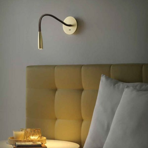 Flexi Leather Wall Lamp Set of Two