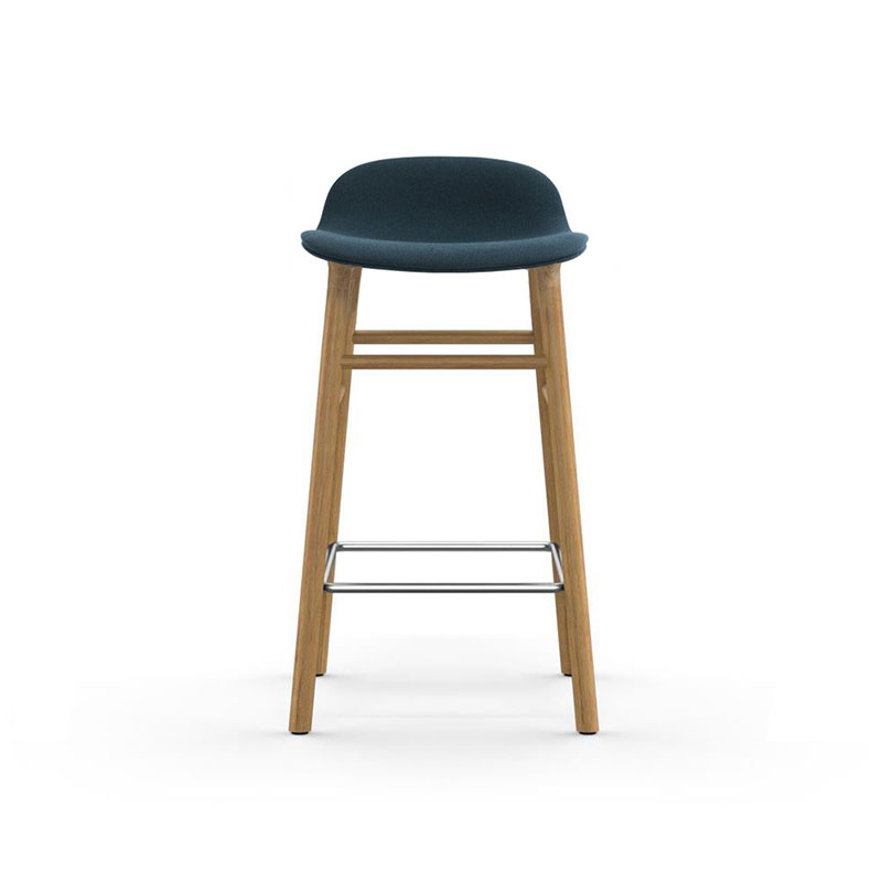 Normann Copenhagen Form Fully Upholstered Counter Stool with Oak Base by Simon Legald