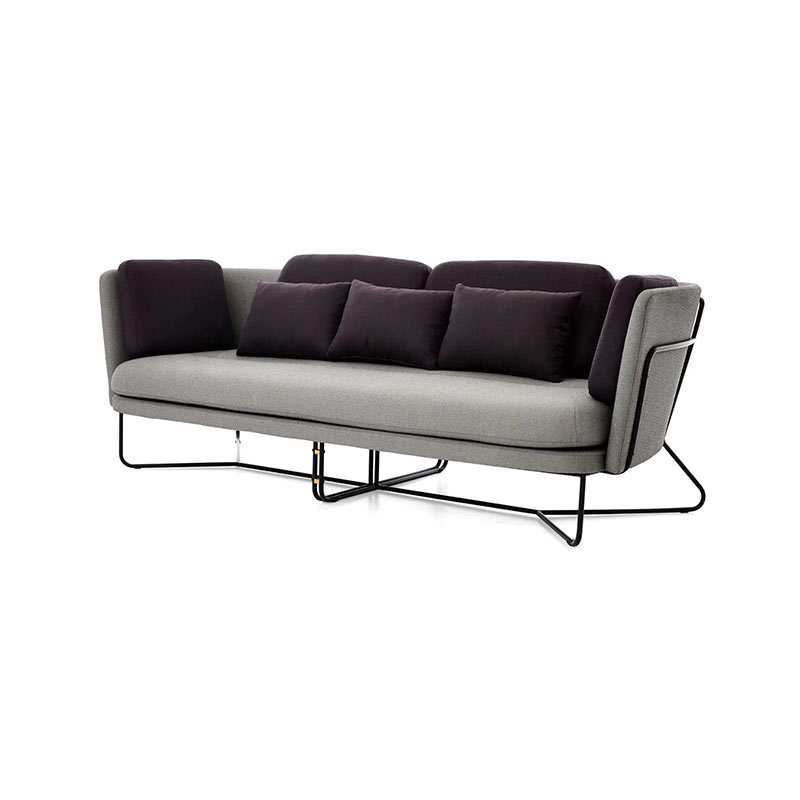 Stellar Works Chillax Three Seat Sofa by Nic Graham 2 Olson and Baker - Designer & Contemporary Sofas, Furniture - Olson and Baker showcases original designs from authentic, designer brands. Buy contemporary furniture, lighting, storage, sofas & chairs at Olson + Baker.