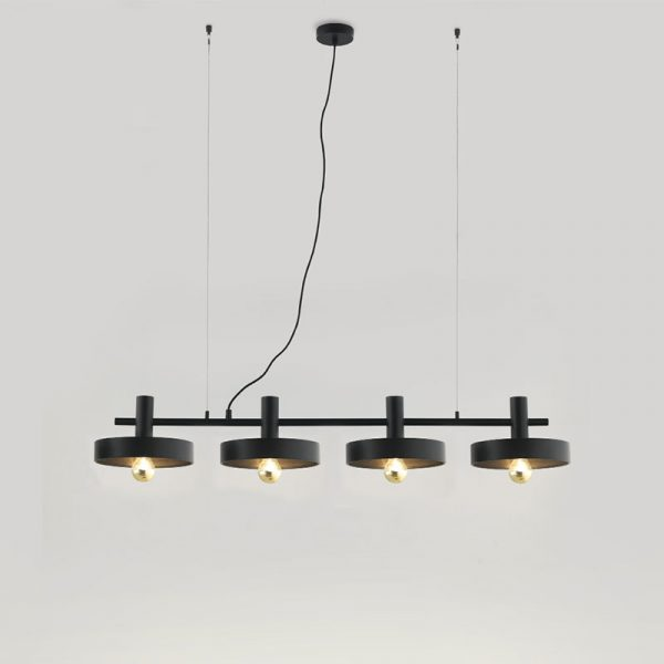 Aloa Chandelier in Matt Black