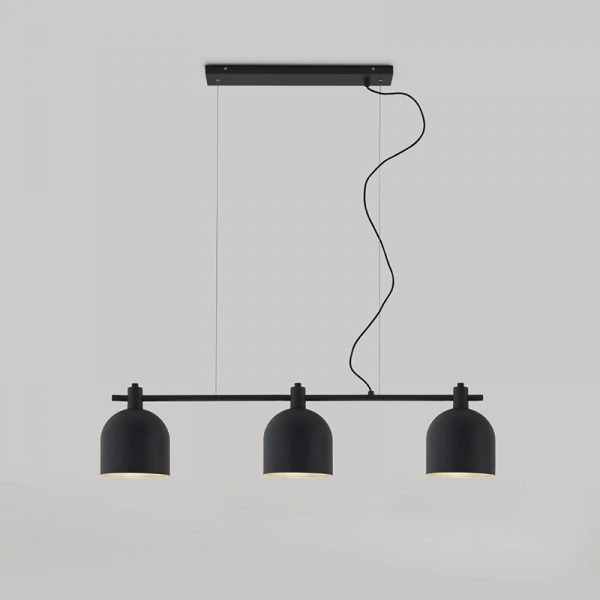 Luca + Chandelier in Matt Black