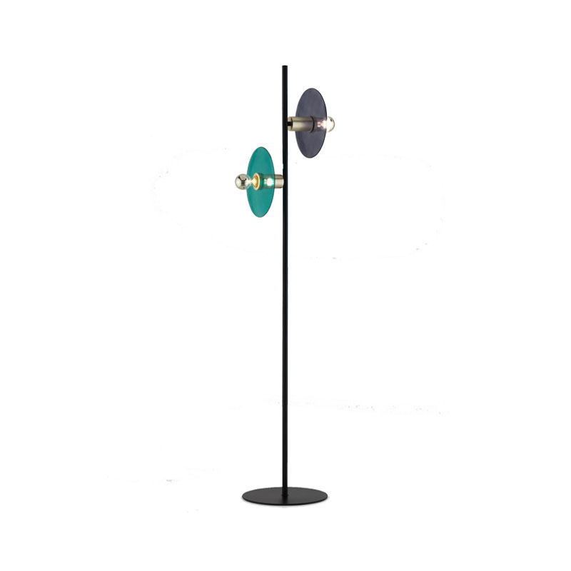 Aromas Ohlala Floor Lamp with Glass Disc Shades by AC Studio Olson and Baker - Designer & Contemporary Sofas, Furniture - Olson and Baker showcases original designs from authentic, designer brands. Buy contemporary furniture, lighting, storage, sofas & chairs at Olson + Baker.
