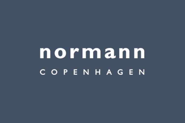 Normann Copenhagen brand logo blue back