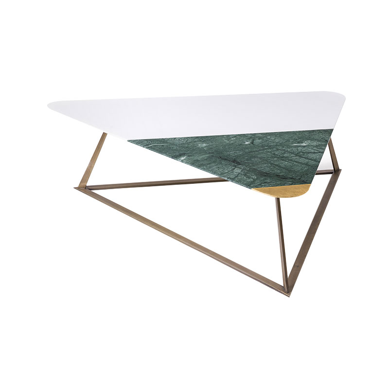 Alex Mint Golden Archer 118x104cm Coffee Table by Alexia Mintsouli Olson and Baker - Designer & Contemporary Sofas, Furniture - Olson and Baker showcases original designs from authentic, designer brands. Buy contemporary furniture, lighting, storage, sofas & chairs at Olson + Baker.