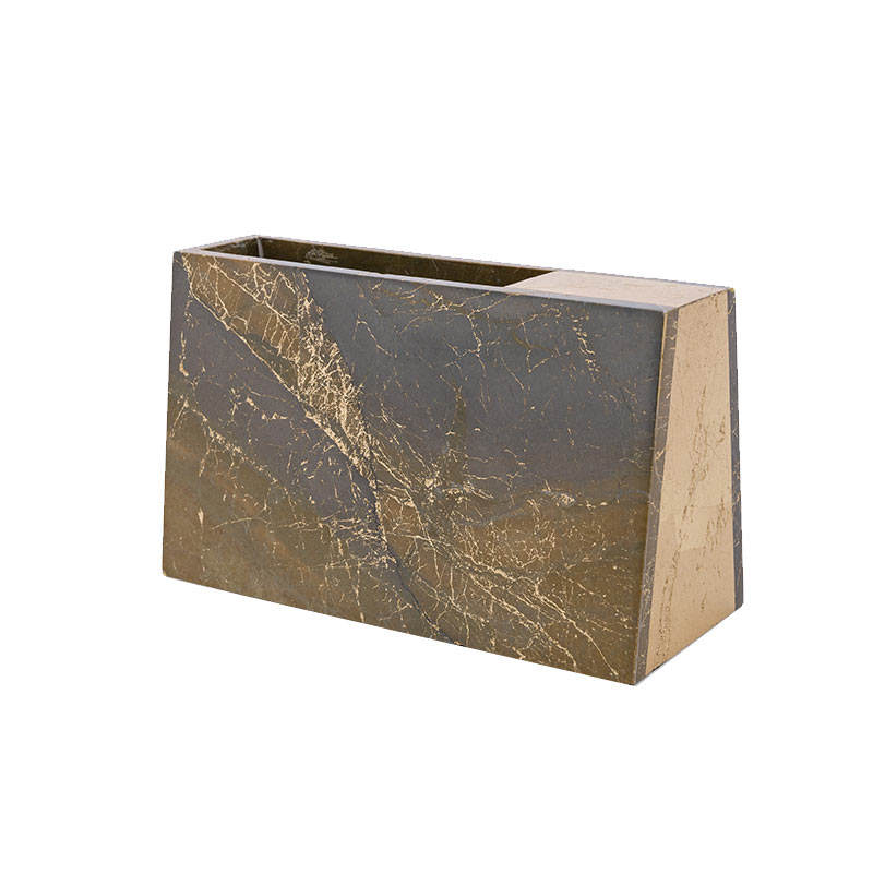 Alex Mint Barricade 10x24cm Marble Vase by Alexia Mintsouli Olson and Baker - Designer & Contemporary Sofas, Furniture - Olson and Baker showcases original designs from authentic, designer brands. Buy contemporary furniture, lighting, storage, sofas & chairs at Olson + Baker.