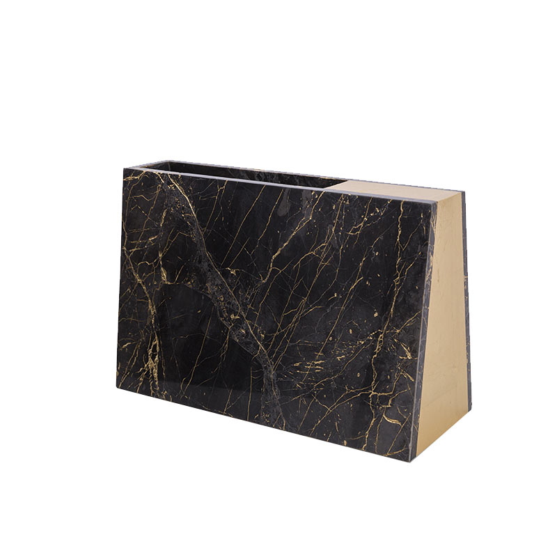 Alex Mint Barricade 12x30cm Marble Vase by Alexia Mintsouli Olson and Baker - Designer & Contemporary Sofas, Furniture - Olson and Baker showcases original designs from authentic, designer brands. Buy contemporary furniture, lighting, storage, sofas & chairs at Olson + Baker.