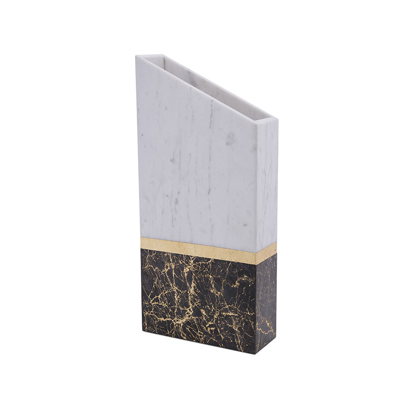 Alex Mint Chimney 15x5cm Marble Vase by Alexia Mintsouli Olson and Baker - Designer & Contemporary Sofas, Furniture - Olson and Baker showcases original designs from authentic, designer brands. Buy contemporary furniture, lighting, storage, sofas & chairs at Olson + Baker.
