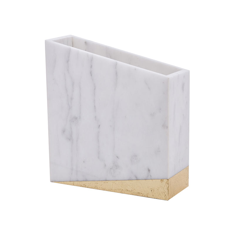 Alex Mint Chimney 17x5cm Marble Vase by Alexia Mintsouli Olson and Baker - Designer & Contemporary Sofas, Furniture - Olson and Baker showcases original designs from authentic, designer brands. Buy contemporary furniture, lighting, storage, sofas & chairs at Olson + Baker.