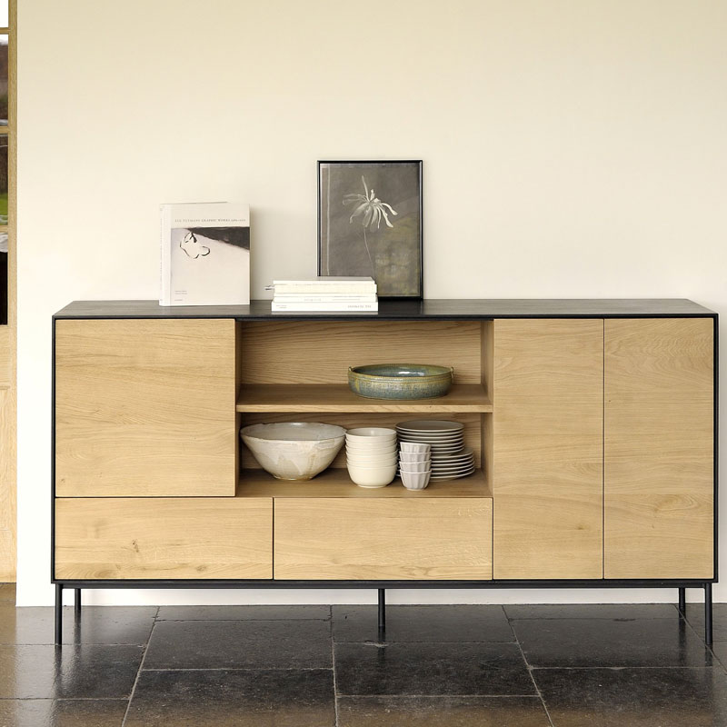 Blackbird Sideboard Lifeshot 01 Olson and Baker - Designer & Contemporary Sofas, Furniture - Olson and Baker showcases original designs from authentic, designer brands. Buy contemporary furniture, lighting, storage, sofas & chairs at Olson + Baker.