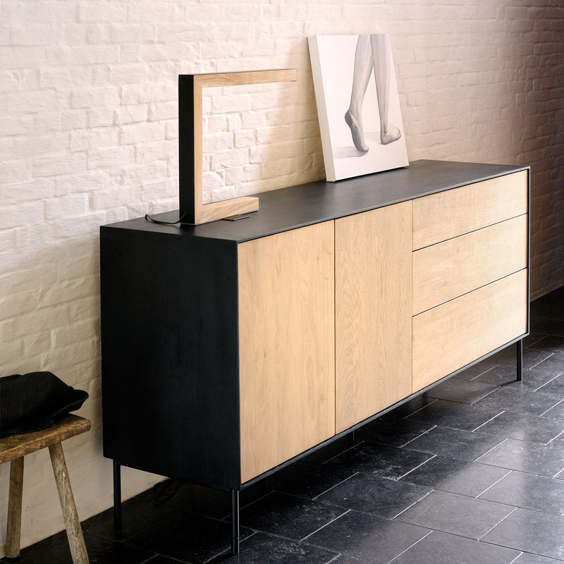 Blackbird Sideboard Lifeshot 02 Olson and Baker - Designer & Contemporary Sofas, Furniture - Olson and Baker showcases original designs from authentic, designer brands. Buy contemporary furniture, lighting, storage, sofas & chairs at Olson + Baker.