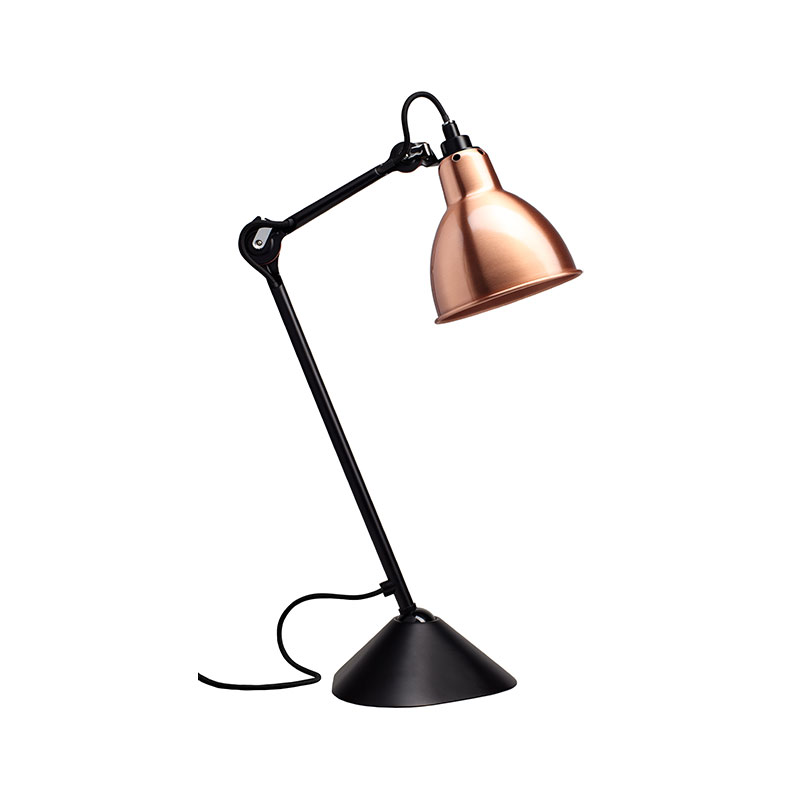 DCW Editions Lampe Gras N205 Table Lamp with Round Shade by Bernard-Albin Gras