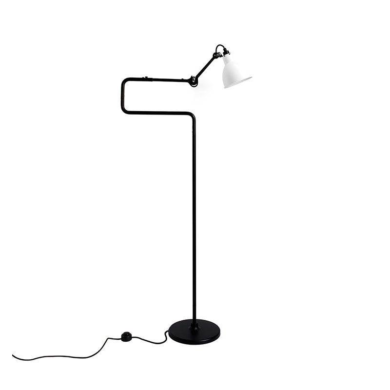 DCW Editions Lampe Gras N411 Floor Lamp with Round Shade by Bernard-Albin Gras Olson and Baker - Designer & Contemporary Sofas, Furniture - Olson and Baker showcases original designs from authentic, designer brands. Buy contemporary furniture, lighting, storage, sofas & chairs at Olson + Baker.