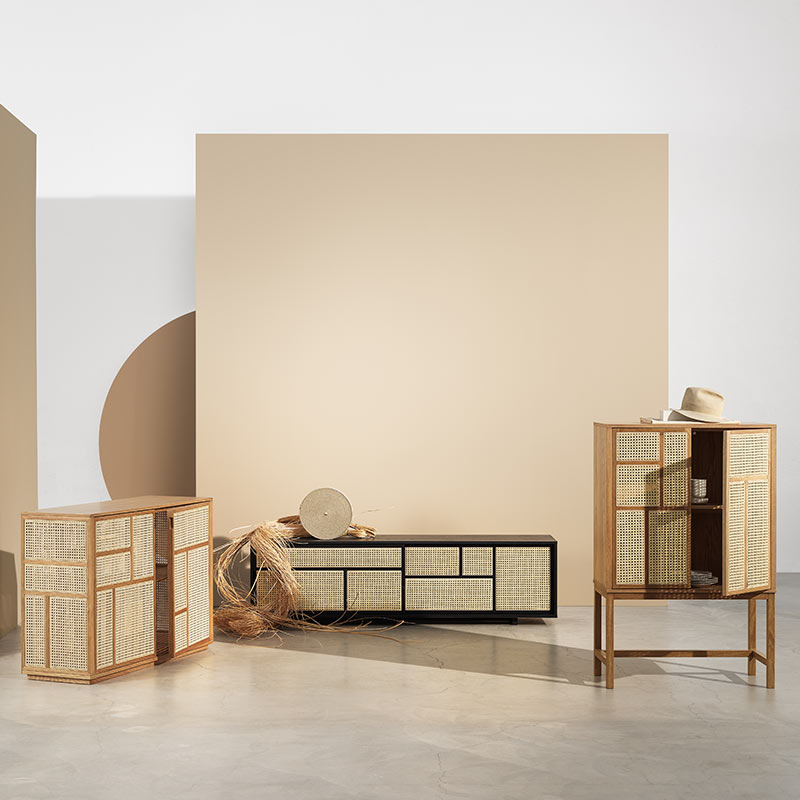 Design House Stockholm Air Cabinet by Mathieu Gustafsson Lifeshot 01 Olson and Baker - Designer & Contemporary Sofas, Furniture - Olson and Baker showcases original designs from authentic, designer brands. Buy contemporary furniture, lighting, storage, sofas & chairs at Olson + Baker.