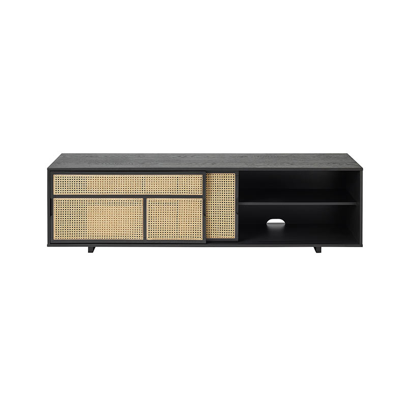Design House Stockholm Air Low Sideboard by Mathieu Gustafsson Black 02 Olson and Baker - Designer & Contemporary Sofas, Furniture - Olson and Baker showcases original designs from authentic, designer brands. Buy contemporary furniture, lighting, storage, sofas & chairs at Olson + Baker.