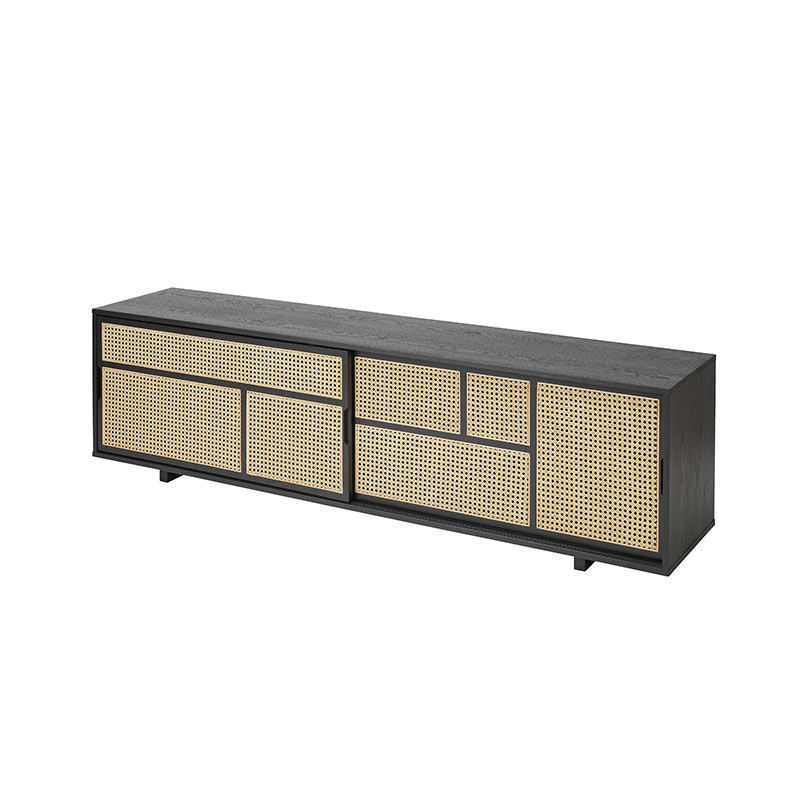 Design House Stockholm Air Low Sideboard by Mathieu Gustafsson Black 03 Olson and Baker - Designer & Contemporary Sofas, Furniture - Olson and Baker showcases original designs from authentic, designer brands. Buy contemporary furniture, lighting, storage, sofas & chairs at Olson + Baker.
