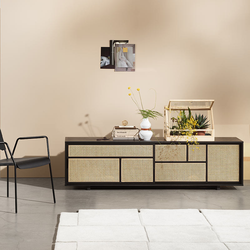 Design House Stockholm Air Low Sideboard by Mathieu Gustafsson Lifeshot 01 Olson and Baker - Designer & Contemporary Sofas, Furniture - Olson and Baker showcases original designs from authentic, designer brands. Buy contemporary furniture, lighting, storage, sofas & chairs at Olson + Baker.