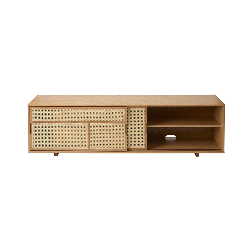 Design House Stockholm Air Low Sideboard by Mathieu Gustafsson Oak 02 Olson and Baker - Designer & Contemporary Sofas, Furniture - Olson and Baker showcases original designs from authentic, designer brands. Buy contemporary furniture, lighting, storage, sofas & chairs at Olson + Baker.