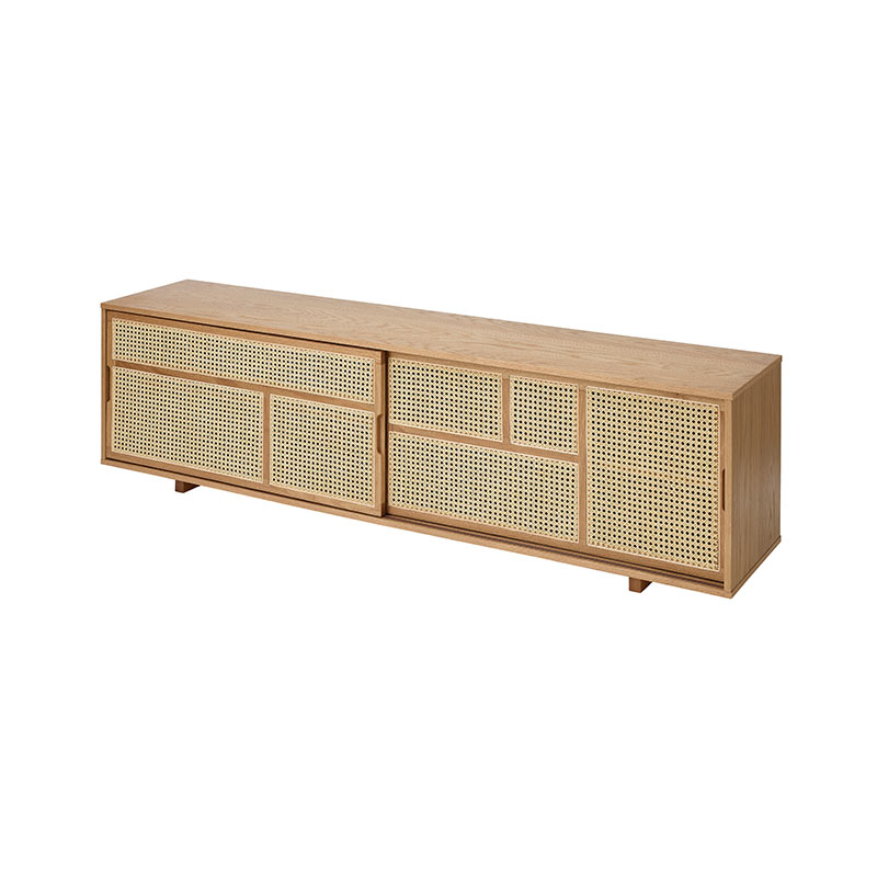 Design House Stockholm Air Low Sideboard by Mathieu Gustafsson Oak 03 Olson and Baker - Designer & Contemporary Sofas, Furniture - Olson and Baker showcases original designs from authentic, designer brands. Buy contemporary furniture, lighting, storage, sofas & chairs at Olson + Baker.