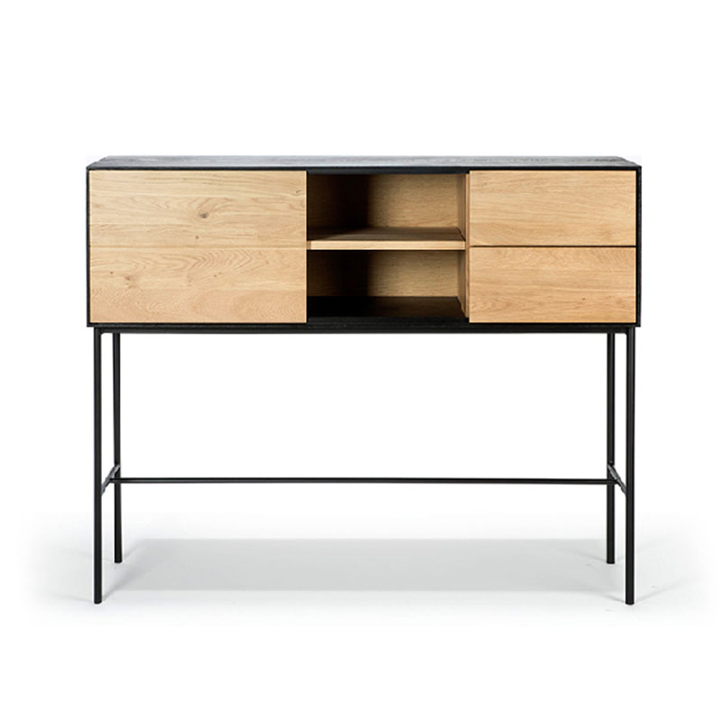 Ethnicraft Blackbird Console by Alain van Havre Olson and Baker - Designer & Contemporary Sofas, Furniture - Olson and Baker showcases original designs from authentic, designer brands. Buy contemporary furniture, lighting, storage, sofas & chairs at Olson + Baker.