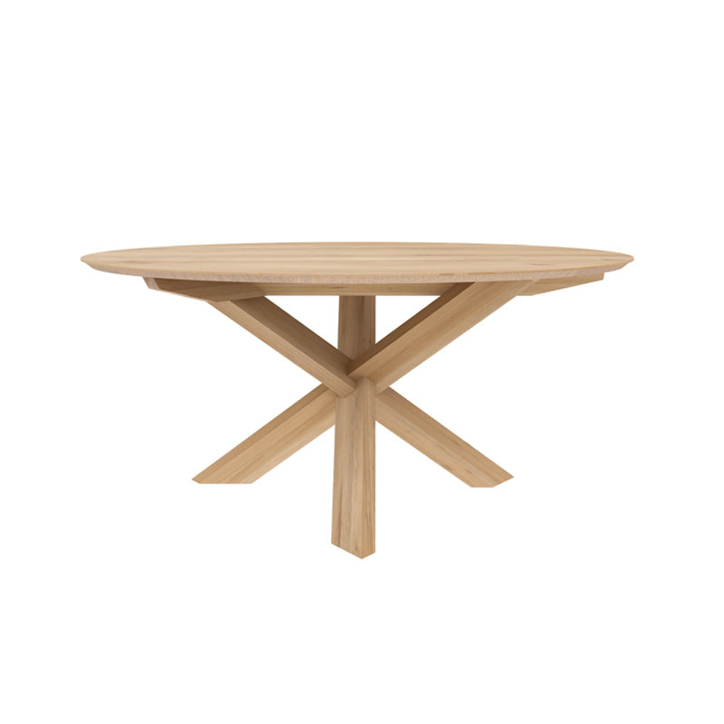 Ethnicraft Circle Dining Table by Alain van Havre Olson and Baker - Designer & Contemporary Sofas, Furniture - Olson and Baker showcases original designs from authentic, designer brands. Buy contemporary furniture, lighting, storage, sofas & chairs at Olson + Baker.