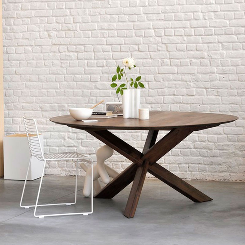 Buy Ethnicraft S Circle Dining Table By Alain Van Havre Olson Baker