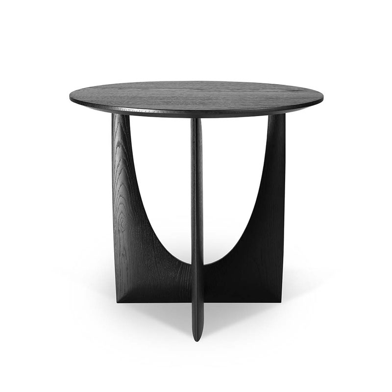 Ethnicraft Geometric Side Table by Alain van Havre Olson and Baker - Designer & Contemporary Sofas, Furniture - Olson and Baker showcases original designs from authentic, designer brands. Buy contemporary furniture, lighting, storage, sofas & chairs at Olson + Baker.