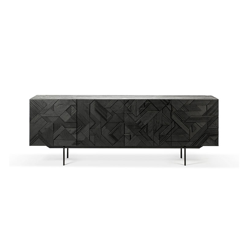Ethnicraft Graphic Sideboard by Alain van Havre Olson and Baker - Designer & Contemporary Sofas, Furniture - Olson and Baker showcases original designs from authentic, designer brands. Buy contemporary furniture, lighting, storage, sofas & chairs at Olson + Baker.