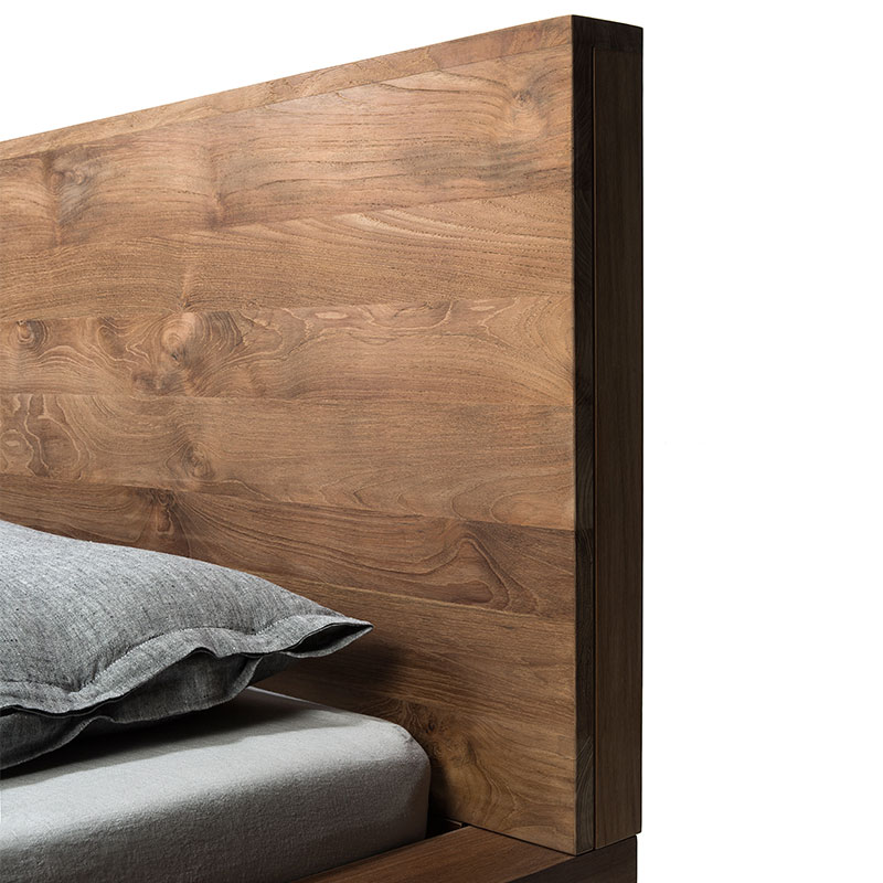 Ethnicraft HP Bed by Alain van Havre 02 Olson and Baker - Designer & Contemporary Sofas, Furniture - Olson and Baker showcases original designs from authentic, designer brands. Buy contemporary furniture, lighting, storage, sofas & chairs at Olson + Baker.