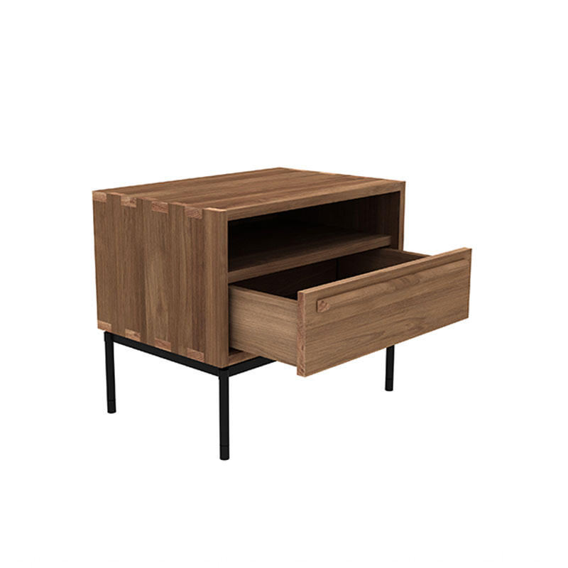 Ethnicraft HP Bedside Table by Alain van Havre 02 Olson and Baker - Designer & Contemporary Sofas, Furniture - Olson and Baker showcases original designs from authentic, designer brands. Buy contemporary furniture, lighting, storage, sofas & chairs at Olson + Baker.