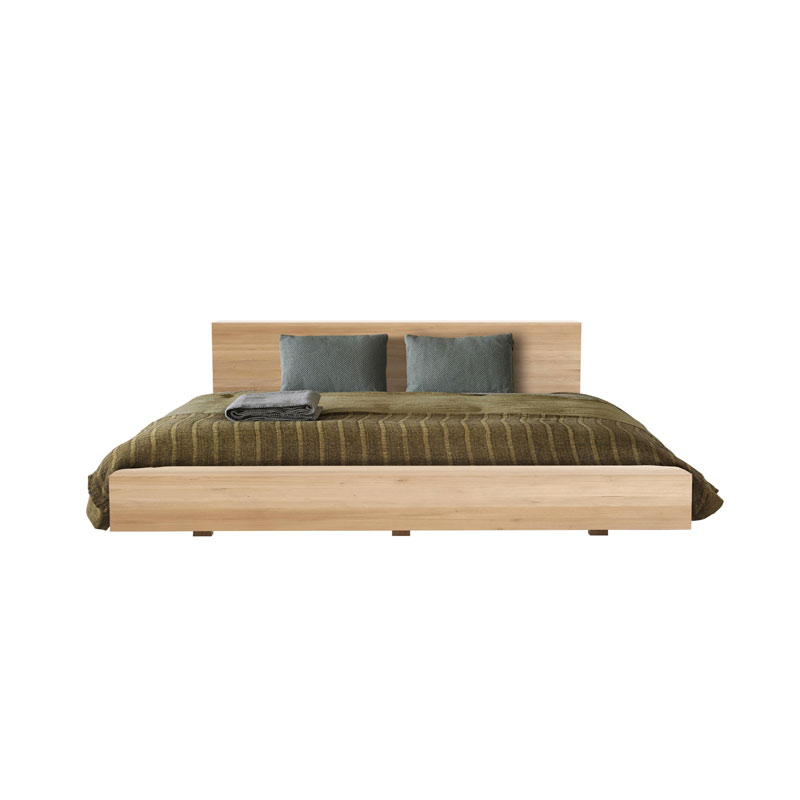 Ethnicraft Madra Bed in Oak by Alain van Havre Olson and Baker - Designer & Contemporary Sofas, Furniture - Olson and Baker showcases original designs from authentic, designer brands. Buy contemporary furniture, lighting, storage, sofas & chairs at Olson + Baker.