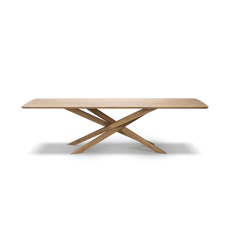 Ethnicraft Mikado Dining Table by Alain van Havre Olson and Baker - Designer & Contemporary Sofas, Furniture - Olson and Baker showcases original designs from authentic, designer brands. Buy contemporary furniture, lighting, storage, sofas & chairs at Olson + Baker.