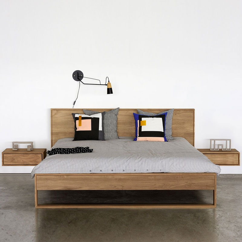 Ethnicraft Nordic II Bed by Alain van Havre Lifeshot 01 Olson and Baker - Designer & Contemporary Sofas, Furniture - Olson and Baker showcases original designs from authentic, designer brands. Buy contemporary furniture, lighting, storage, sofas & chairs at Olson + Baker.