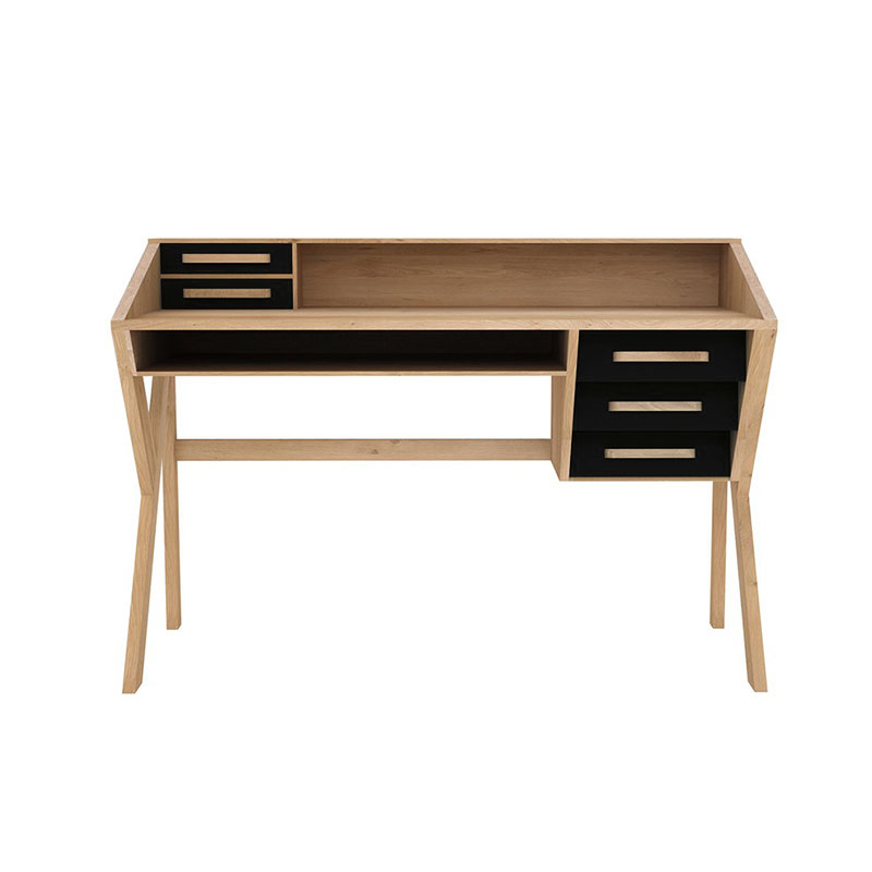 Ethnicraft Origami Desk by Fleur Meusnier Olson and Baker - Designer & Contemporary Sofas, Furniture - Olson and Baker showcases original designs from authentic, designer brands. Buy contemporary furniture, lighting, storage, sofas & chairs at Olson + Baker.