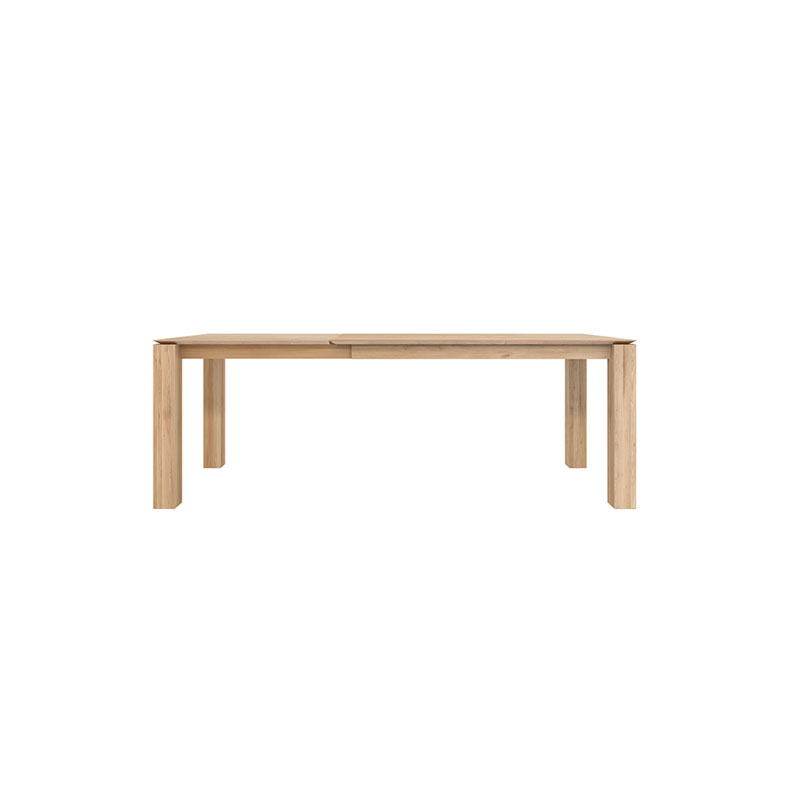 Ethnicraft Slice Extendable Dining Table by Nathan Yong Olson and Baker - Designer & Contemporary Sofas, Furniture - Olson and Baker showcases original designs from authentic, designer brands. Buy contemporary furniture, lighting, storage, sofas & chairs at Olson + Baker.