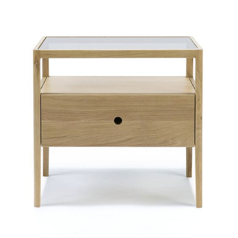 Ethnicraft Spindle Bedside Table by Nathan Yong Olson and Baker - Designer & Contemporary Sofas, Furniture - Olson and Baker showcases original designs from authentic, designer brands. Buy contemporary furniture, lighting, storage, sofas & chairs at Olson + Baker.