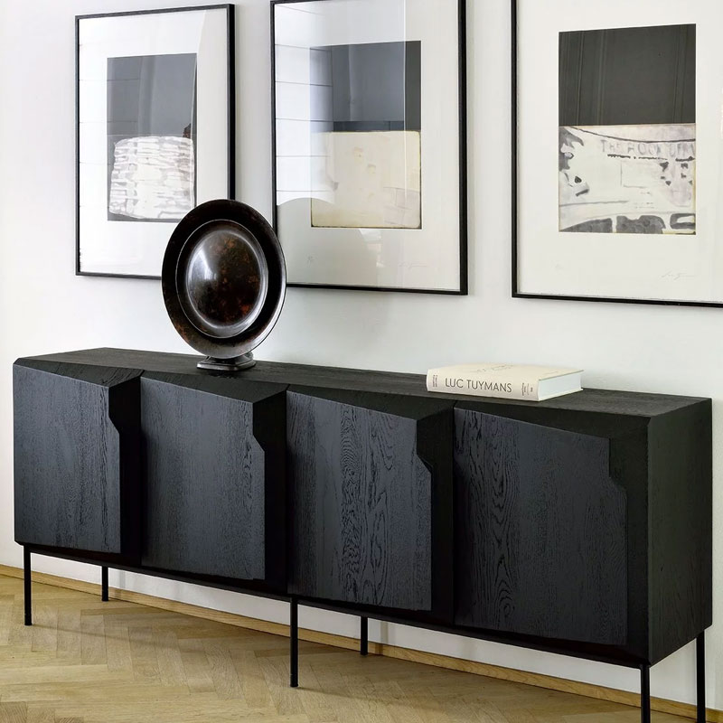 Ethnicraft Stairs Sideboard by Alain van Havre 04 Olson and Baker - Designer & Contemporary Sofas, Furniture - Olson and Baker showcases original designs from authentic, designer brands. Buy contemporary furniture, lighting, storage, sofas & chairs at Olson + Baker.