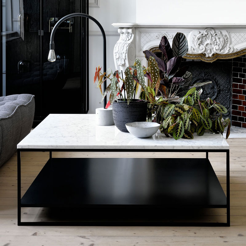 Ethnicraft Stone Coffee Table by Alain van Havre 03 Olson and Baker - Designer & Contemporary Sofas, Furniture - Olson and Baker showcases original designs from authentic, designer brands. Buy contemporary furniture, lighting, storage, sofas & chairs at Olson + Baker.