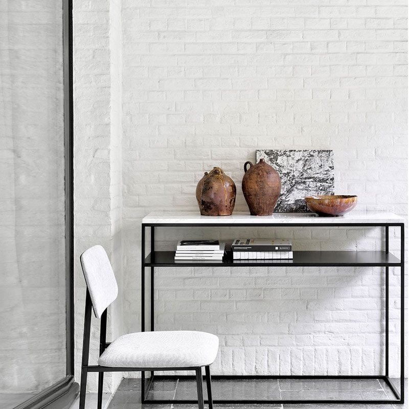 Ethnicraft Stone Console by Alain van Havre 04 Olson and Baker - Designer & Contemporary Sofas, Furniture - Olson and Baker showcases original designs from authentic, designer brands. Buy contemporary furniture, lighting, storage, sofas & chairs at Olson + Baker.