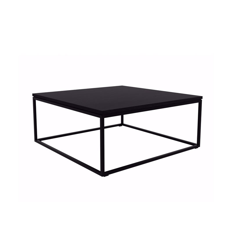 Ethnicraft Thin Coffee Table in Black by Alain van Havre Olson and Baker - Designer & Contemporary Sofas, Furniture - Olson and Baker showcases original designs from authentic, designer brands. Buy contemporary furniture, lighting, storage, sofas & chairs at Olson + Baker.