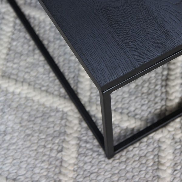 Thin Coffee Table in Black
