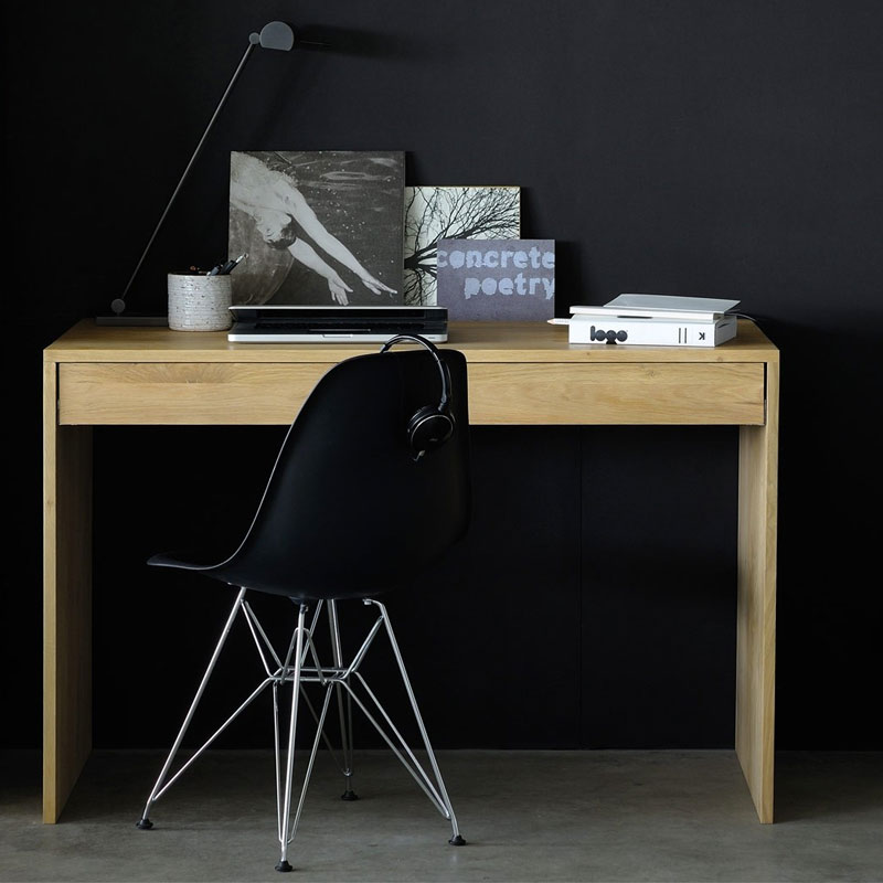 Ethnicraft Wave Desk by Alain van Havre Lifeshot 01 Olson and Baker - Designer & Contemporary Sofas, Furniture - Olson and Baker showcases original designs from authentic, designer brands. Buy contemporary furniture, lighting, storage, sofas & chairs at Olson + Baker.