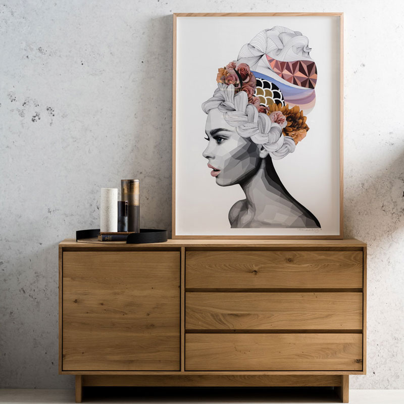 Ethnicraft Wave Sideboard by Constance Guisset Oak Lifeshot 03 Olson and Baker - Designer & Contemporary Sofas, Furniture - Olson and Baker showcases original designs from authentic, designer brands. Buy contemporary furniture, lighting, storage, sofas & chairs at Olson + Baker.