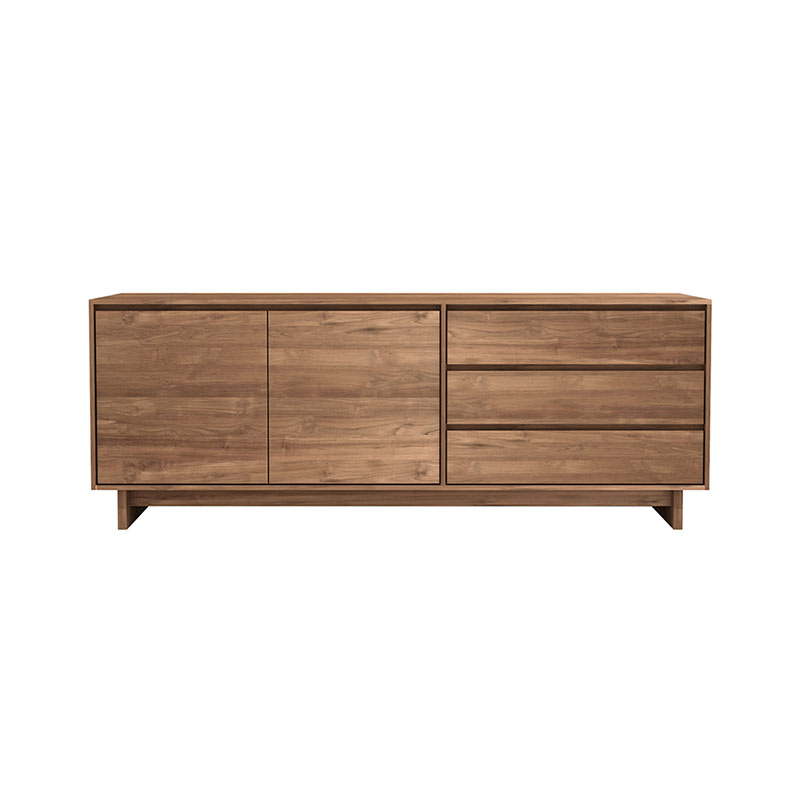 Ethnicraft Wave Sideboard by Constance Guisset Olson and Baker - Designer & Contemporary Sofas, Furniture - Olson and Baker showcases original designs from authentic, designer brands. Buy contemporary furniture, lighting, storage, sofas & chairs at Olson + Baker.