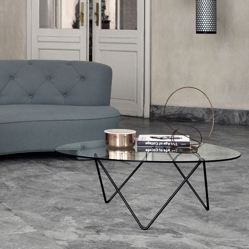 Gubi Pedrera Coffee Table by Corsini & Millet Lifeshot 01 Olson and Baker - Designer & Contemporary Sofas, Furniture - Olson and Baker showcases original designs from authentic, designer brands. Buy contemporary furniture, lighting, storage, sofas & chairs at Olson + Baker.