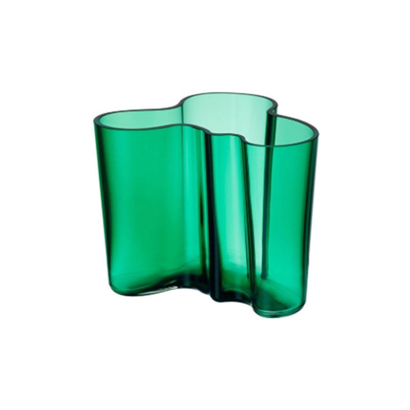 Iittala Aalto 120mm Glass Vase by Alvar Aalto Olson and Baker - Designer & Contemporary Sofas, Furniture - Olson and Baker showcases original designs from authentic, designer brands. Buy contemporary furniture, lighting, storage, sofas & chairs at Olson + Baker.