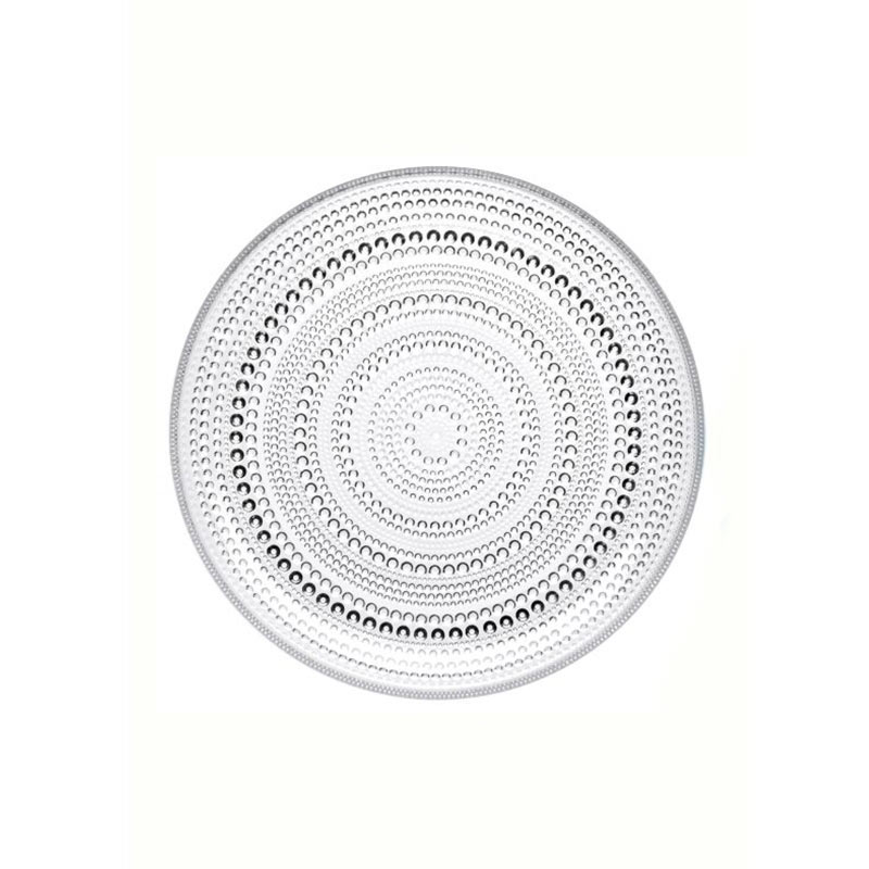 Iittala Kastehelmi 248mm Plate - Set of Six by Oiva Toikka Olson and Baker - Designer & Contemporary Sofas, Furniture - Olson and Baker showcases original designs from authentic, designer brands. Buy contemporary furniture, lighting, storage, sofas & chairs at Olson + Baker.