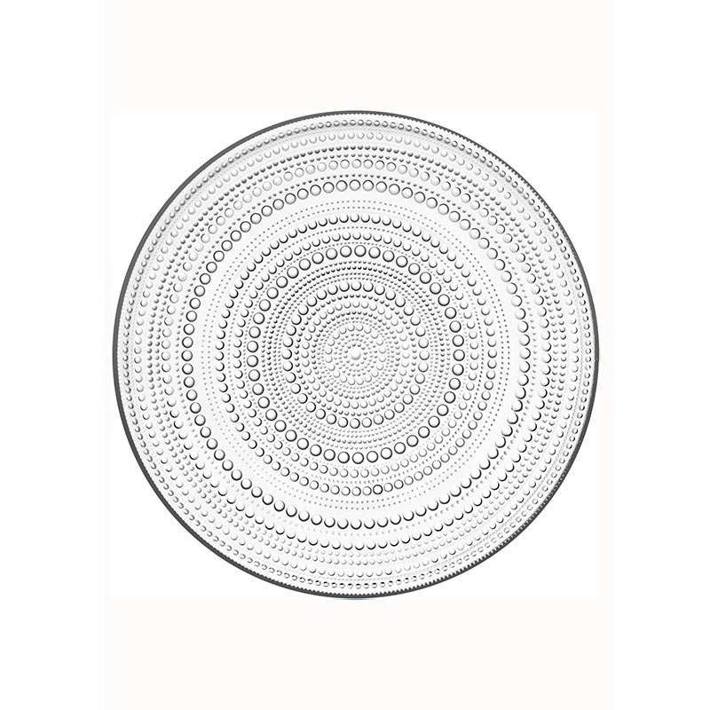 Iittala Kastehelmi 315mm Plate - Set of Four by Oiva Toikka Olson and Baker - Designer & Contemporary Sofas, Furniture - Olson and Baker showcases original designs from authentic, designer brands. Buy contemporary furniture, lighting, storage, sofas & chairs at Olson + Baker.