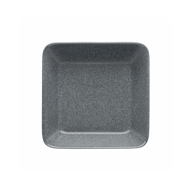 Iittala Teema 16 x 16cm Square Plate - Set of Two - Dotted Grey by Kaj Franck Olson and Baker - Designer & Contemporary Sofas, Furniture - Olson and Baker showcases original designs from authentic, designer brands. Buy contemporary furniture, lighting, storage, sofas & chairs at Olson + Baker.