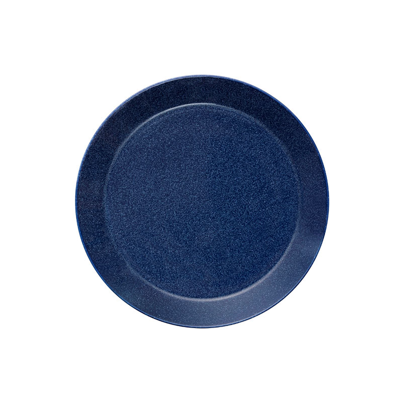 Iittala Teema 21cm Flat Plate - Set of Six - Dotted Blue by Kaj Franck Olson and Baker - Designer & Contemporary Sofas, Furniture - Olson and Baker showcases original designs from authentic, designer brands. Buy contemporary furniture, lighting, storage, sofas & chairs at Olson + Baker.