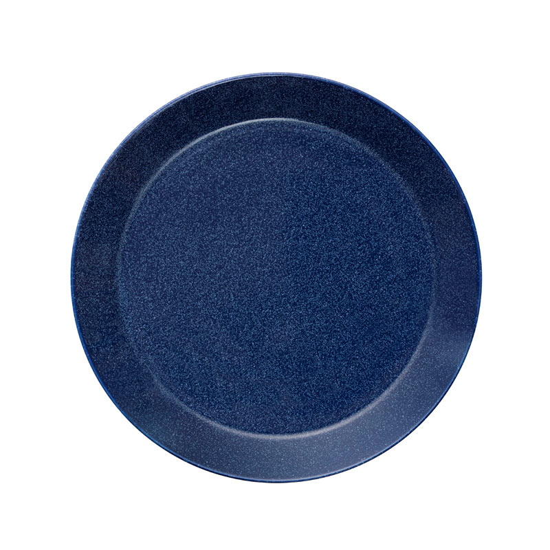 Iittala Teema 26cm Flat Plate - Set of Six - Dotted Blue by Kaj Franck Olson and Baker - Designer & Contemporary Sofas, Furniture - Olson and Baker showcases original designs from authentic, designer brands. Buy contemporary furniture, lighting, storage, sofas & chairs at Olson + Baker.